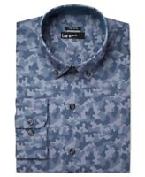 BAR III Men's Slim Fit Blue Camo Shirt Size L - Neck 16 16.5 - Sleeve 34/35 NEW