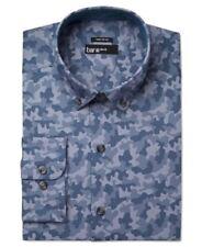 BAR III Men's Slim Fit Blue Camo Shirt Size L - Neck 16 16.5 - Sleeve 32/33 NEW