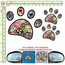 IMPRONTA adesivi serbatoio specchietti FOOTPRINT sticker bomb auto mirror 3 pz