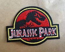 JURASSIC PARK ☆ DINOSAUR Iron On Patch / Badge Costume Fancy dress up Movie Film