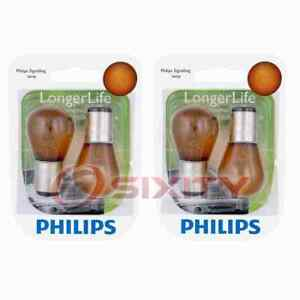 2 pc Philips Front Turn Signal Light Bulbs for Oldsmobile 88 98 Achieva cz