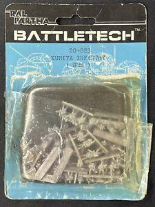 1987 Ral Partha Metal Miniatures BattleTech KURITA INFANTRY 20-823 (8MM)