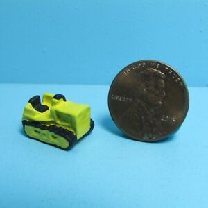 Dollhouse Miniature Toy Yellow Bulldozer MUL1031