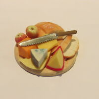 Cheese Selection on Board ~ Dolls House Miniature Food ~ 1/12th scale