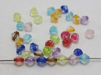 "200 Mixed Color Acrylic Faceted Bicone Beads 8X8mm Spacer ""Bead in Bead"""