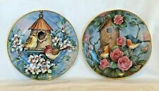2 Royal Doulton Ltd Edition Signed Bird Plates Settling In & Scarlet Finch Flat