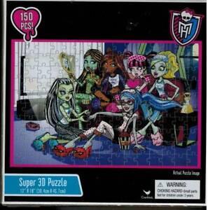 Monster High 150 Pc Super 3-D Jigsaw Puzzle 6 Original Dolls 12x18 Sealed