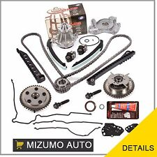 Timing Chain Kit Cam Phaser Oil Water Pump Gasket Fit 04-10 Ford 5.4 3-Valve