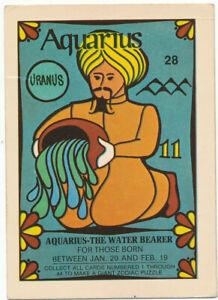 Vintage 1969 Zodiac Donruss Trading Card | Aquarius #28 | Ultra Rare! VG