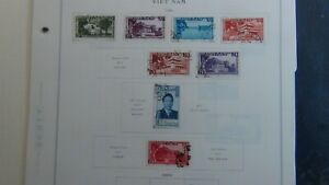 Vietnam stamp collection on Scott Int'l pages/ loose to '75 w/#400 or so stamps