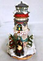 Christmas Santa Lighthouse Light-up Musical Box - Holiday Tree House Decoration