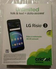 New. LG Risio 3 - 16GB - Marrocan Blue (Cricket Wireless)