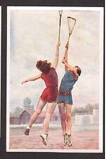 Lacrosse - Ladies Female Vintage 1932 Sanella Sports Card