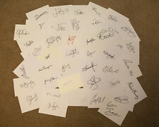 50 County Cricket Autographs - Signed Cards - inc.