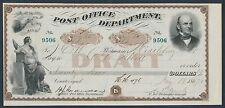 1867 Post Office Draft Signed By A.N Zevely 3Rd Assistant Postmaster Gen. Br4647