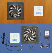 Mega-fan AV Cabinet Exhaust fan w/thermostat & multi-speed transformer