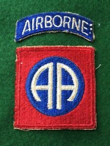 Original WW2 Era 82nd Airborne Division Shoulder Sleeve Patch with Airborne Tab