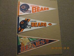 NFL Chicago Bears Vintage 1980's 3D & 2B Face Mask & 2000's Team Logo Pennants