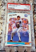 JOHN SMOLTZ 1988 Fleer Update Rookie RC PSA 9 HOF 1995 Atlanta Braves Champs $$$