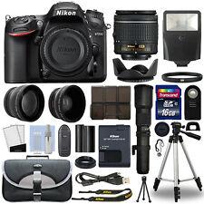 Nikon D7200 DSLR Camera + 4 Lens 18-55mm + 500mm + 16GB Telephoto Kit