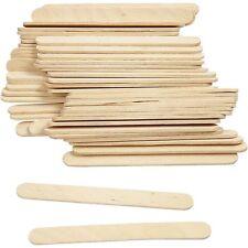 Wood Lolly Pop Sticks - 100 Pieces - Craft Make School - Wooden Model Stick Flat
