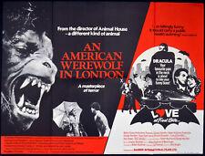 AMERICAN WEREWOLF IN LONDON 1981 David Naughton LOVE AT FIRST BITE UK QUAD
