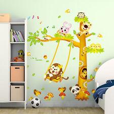 Large Jungle Animal Tree Wall Sticker DIY Boys Girls Room Decor Mural Vinyl Art