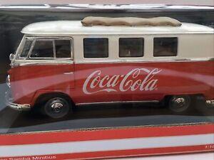 MOT 397471 VW SAMBA MINI BUS 1962 Coco Cola diecast model red white 1:18