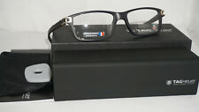 TAG HEUER New Eyeglasses Square Eyeglasses Black TH7601 008 5517
