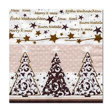 4 lose Motivservietten Servietten Napkins Weihnachten Drei Bäume (331)