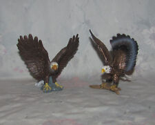 """Schleich Set of 2 Bald Eagles 3.5"""" Tall - Outstretched Wings - Pair"""