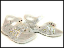 Girls Silver Bling Flower Toddler Sandals 1
