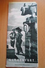 Reiseprospekt Österreich Klagenfurt 1951, 8 Seiten + Einlage