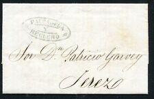 1859 Spain Cosario De Cadiz stampless cover