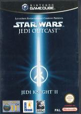 NINTENDO GameCube • Star Wars Jedi Outcast Knight II 2 • ITALIANO con Manuale