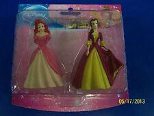 Disney Princess PVC Plastic Toy Figurines Party Cake Toppers - Ariel & Belle