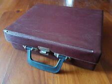 Vintage Retro 70s CASSETTE TAPE CARRY CASE Brown PVC/Vinyl STORAGE Holds 20