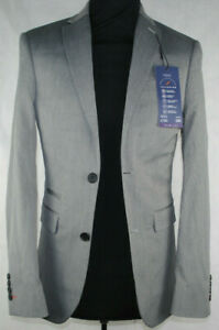 """Mens Suit Jacket Blazer Grey Slim Fit NEXT £80 RRP 32""""R Chest New with Tags"""