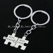 Sweet Silver Plated Best Friends Charm Pendant Keyring Keyfob Keychain Gift Xmas