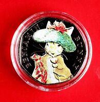 Beatrix potter 50p Benjamin bunny coloured UNCIRCULATED coin 2017