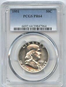 1951 Franklin Half Dollar 50c PCGS PR 64