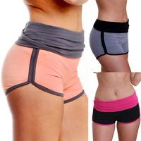 Fashion Women Yoga Sport Running Pants Cropped Leggings Short Stretch Trousers