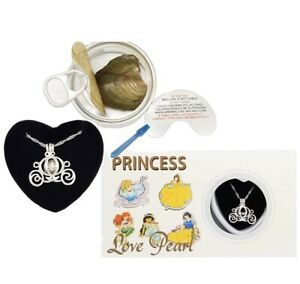 """Disney Princess Carriage Wish Pearl Kit Cultured Pearl Oyster 16"""" Necklace Set"""