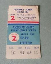 1975 Baseball AL Playoffs ALCS Game 2 Ticket Stub Boston Red Sox Oakland A's