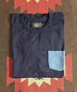 Double RL RRL Ralph Lauren Pocket Indigo T-shirt Tee