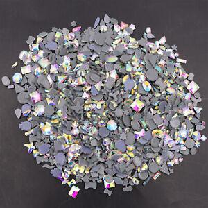 Iron On Hotfix Crystal AB Rhinestones Many Shapes for Motif Transfer Clothes