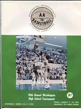 High School Basketball Program Washington Prep WIAA 1978 State AA  Mark Morris