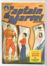Captain Marvel Adventures #45 (C. C. Beck) Golden Age-Fawcett VG+  {Generations}
