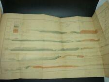 MAGNAN Etudes géologiques MINERALOGIE GEOLOGIE SCIENCES MANUSCRIT PLANCHES 1869