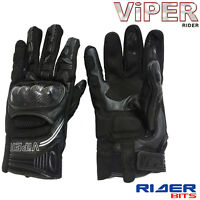 VIPER RAGE 6 ADULTS GLOVE BLACK CE APPROVED SUMMER TEXTILE MOTORBIKE MOTORCYCLE